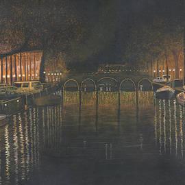 Stuart B Yaeger - Amsterdam Canal At Midnight