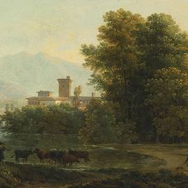 JEAN-JOSEPH-XAVIER BIDAULD - AN ITALIANATE LANDSCAPE