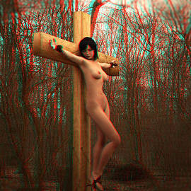 Ramon Martinez - Anaglyph crucifix in the autum