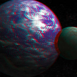 Ramon Martinez - Anaglyph Tellus and Moon
