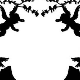 Rose Santuci-Sofranko - Angels Bird Bunnies and Boughs Silhouette