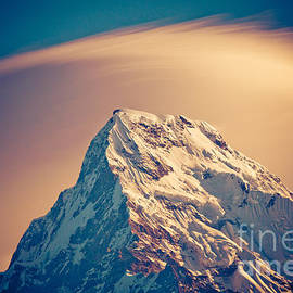 Raimond Klavins - Annapurna South at sunrise in Himalayas Artmif photo Raimond Klavins