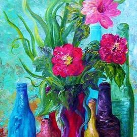 Eloise Schneider - Antique Bottles and Flowers