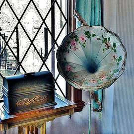 Kim Bemis - Antique Edison Phonograph in the Boardwalk Plaza Lobby - Rehoboth Beach Delaware