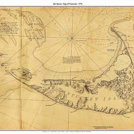 Des Barres - Antique Map of Nantucket