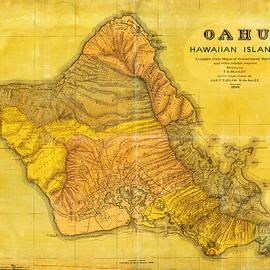 Celestial Images - Antique Map Of Oahu Hawaiian Islands