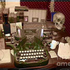 Janice Rae Pariza - Antique Oliver Typewriter on Old West Physician Desk