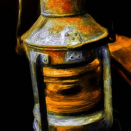 F Leblanc - Antique Sailing Ship Lantern