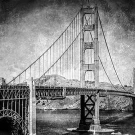 The  Vault - Jennifer Rondinelli Reilly - Antique style Golden Gate Bridge in Black and White