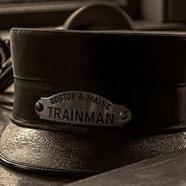 Laura Duhaime - Antique Trainman Hat From Boston and Maine Railroad
