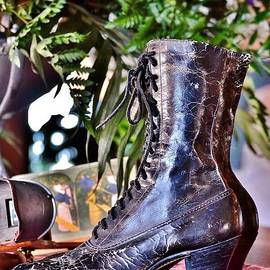 Kim Bemis - Antique Victorian Boots at the Boardwalk Plaza Hotel - Rehoboth Beach Delaware