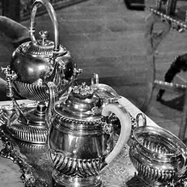 Kim Bemis - Antique Victorian Tea Service in the Boardwalk Plaza Lobby - Rehoboth Beach Delaware