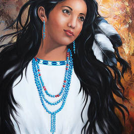 ILONA ANITA TIGGES - GOETZE  ART and Photography  - Apache maiden dressed in traditional costumes