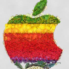 Eti Reid - Apple logo fruits and vegetables art