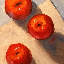 Nancy Merkle - Apple Trio Still Life
