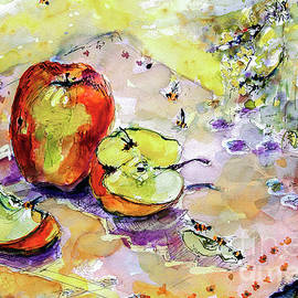 Ginette Fine Art LLC Ginette Callaway - Apples and Bees French Country