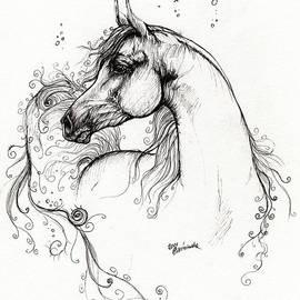Angel  Tarantella - Arabian Horse Drawing 8