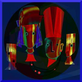 Irmgard Schoendorf Welch - Archaic heads - 837