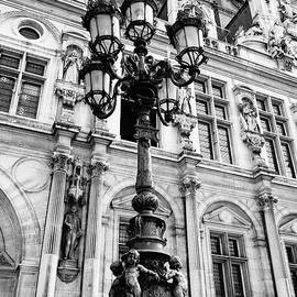 Richard Rosenshein - Architectural Artwork And Statues On And Around The Hotel De Ville In Paris France
