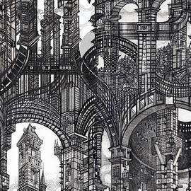 Serge Yudin - Architectural Utopia 16 fragment