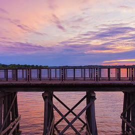 Bill Tiepelman - Arcola Bridge - Purple Sunset