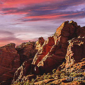 Bob and Nadine Johnston - Arizona Sunset Sedona Mountain