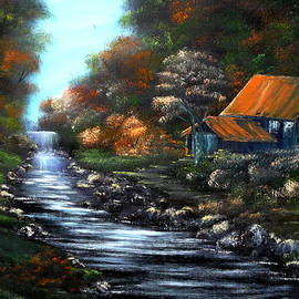 Cynthia Adams - Around the bend at Fall.