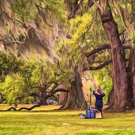 Steve Harrington - Art Lesson in CIty Park New Orleans