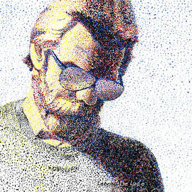 Lenora  De Lude - Art Pointillism Male Portrait