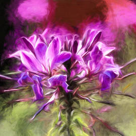Leif Sohlman - Artistic painterly flower in the dreampark of city Enkoping Sweden