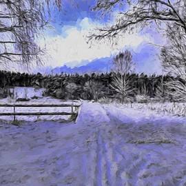 Leif Sohlman - Artistic presentation of  #Walk-way over Dyarna a #winter #day near city Enkoping Sweden January 201