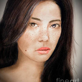Jim Fitzpatrick - Asian Model with Freckles Fade to Black