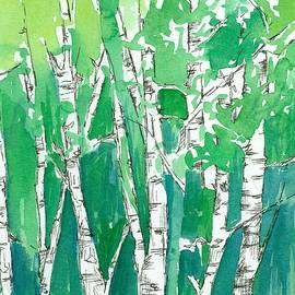 Cathie Richardson - Aspens in the Green