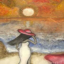 Saribelle Rodriguez - At the Beach Acrylic Abstract Art by Saribelle