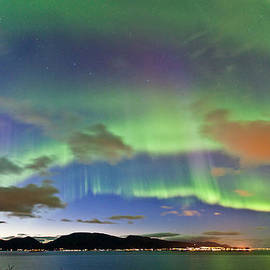 Frank Olsen - Auroras at Sortland strait II