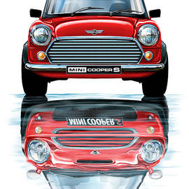 David Kyte - Austin Mini Cooper with new BMW Mini Cooper Reflected