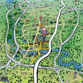 Kevin Middleton - Austin TX Cartoon Map