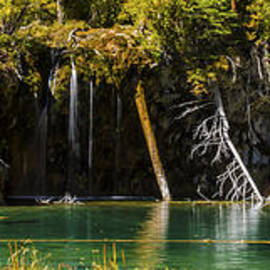 Brian Harig - Autumn At Hanging Lake Waterfall Panorama - Glenwood Canyon Colorado