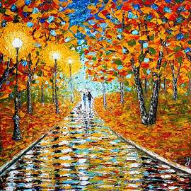 Georgeta  Blanaru - Autumn Beauty original palette knife painting