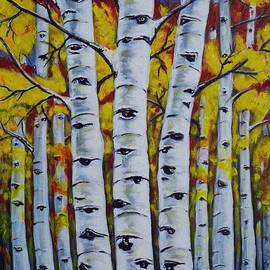 Teresa  Pascos - Autumn Birch Trees