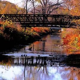 Karen  Majkrzak - Autumn Bridge Reflections