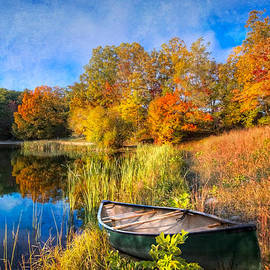 Debra and Dave Vanderlaan - Autumn Canoe