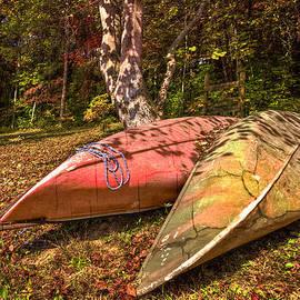 Debra and Dave Vanderlaan - Autumn Canoes