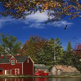 Autumn Church Row - Fine Art