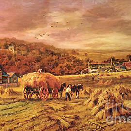 Lianne Schneider - Autumn Folk Art - Haying Time
