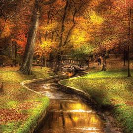 Mike Savad - Autumn - Landscape - By a little bridge