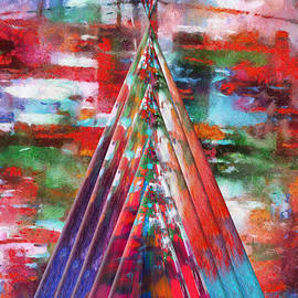 Thomas Woolworth - Autumn On The Plains Abstract Tee Pee