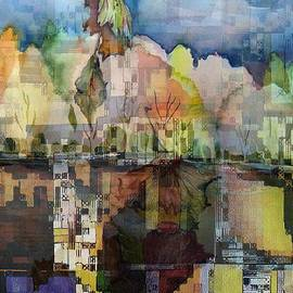 Mindy Newman - Autumn Reflections in the City