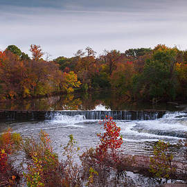 Jerry Cowart - Refreshing Waterfalls Autumn Trees on the Stones River Tennessee