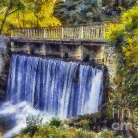 Ian Mitchell - Autumn Waterfall Bridge